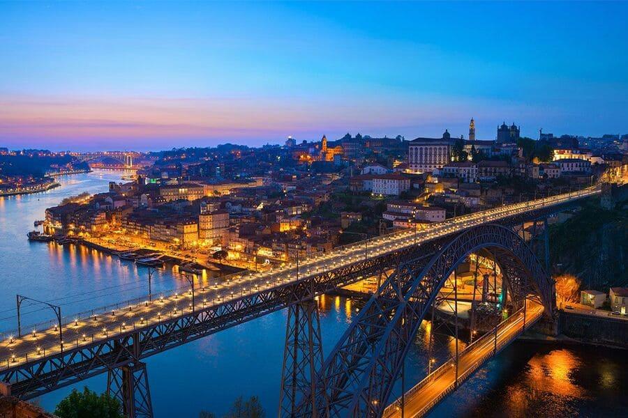 Puente don luis de noche, OPORTO