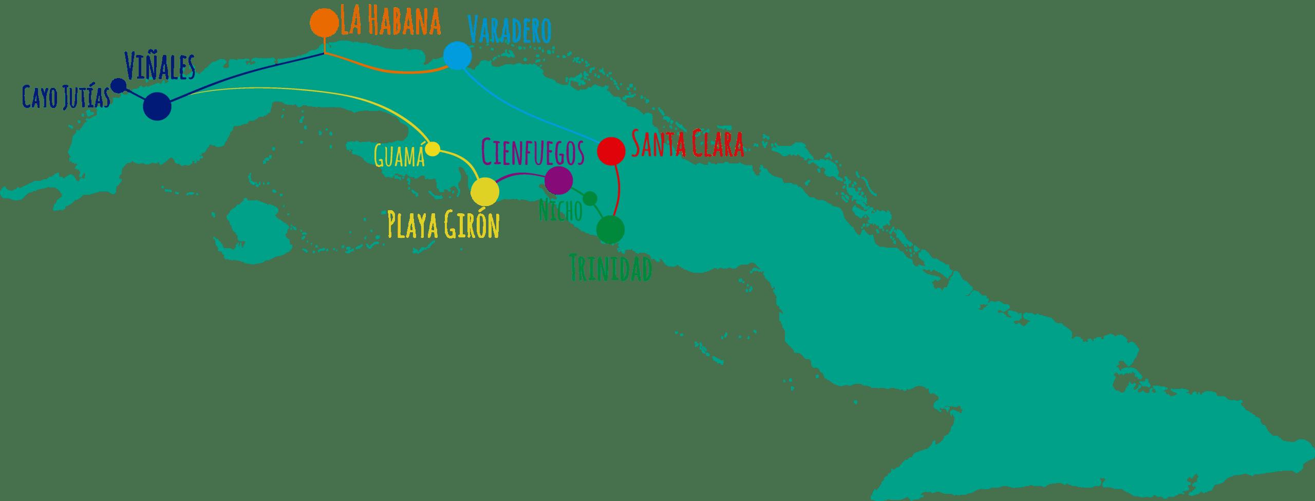 Cuba 2020 • Mapa Cuba scaled