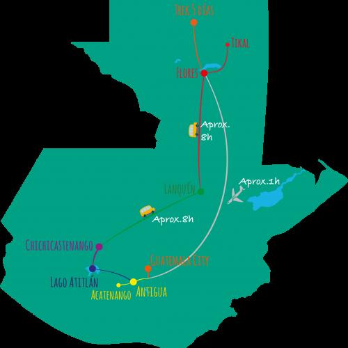 ruta viaje a guatemala